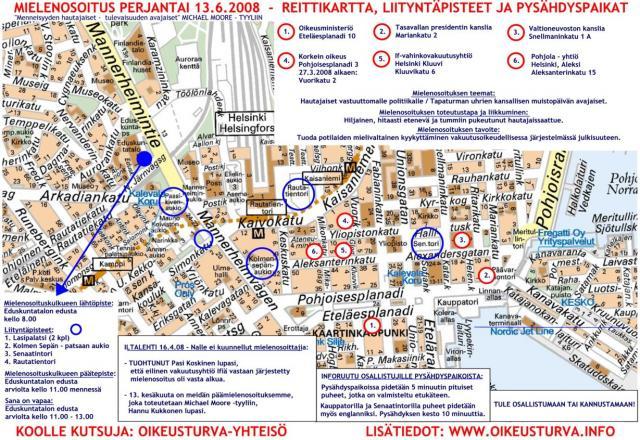 Mielenosoitus 13.6.2008 Helsinki