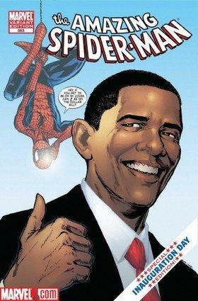 Obaman debyytti The Amazing Spiderman -lehdessä.