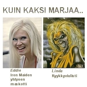 Linda kauniissa seurassa.. :p