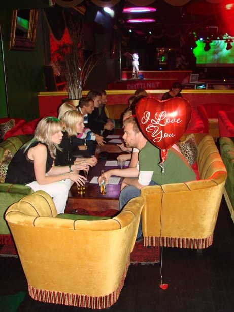 Speed-dating oli suosittua sinkkubileissä