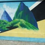 Pitonit (tuntemattoman graffititaiteilijan luomus) (Castries).