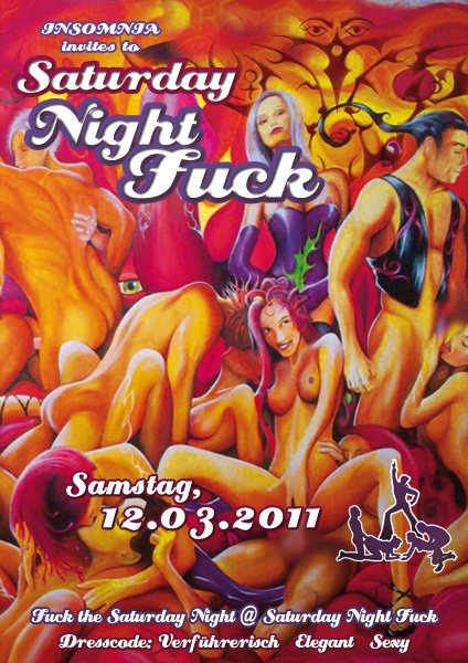 Saturday Night Fuck juliste