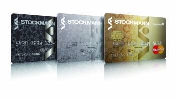 Stockmannin kortit. First vasemmalla. Kuva: Stockmann