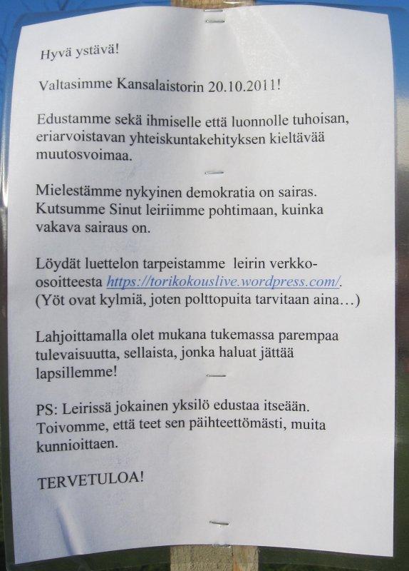 Kansalaistori 25.10.2011 - Leirin info