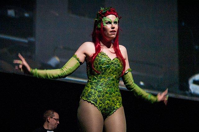 Cosplay-kisassa oli mukana mm. Poison Ivy.