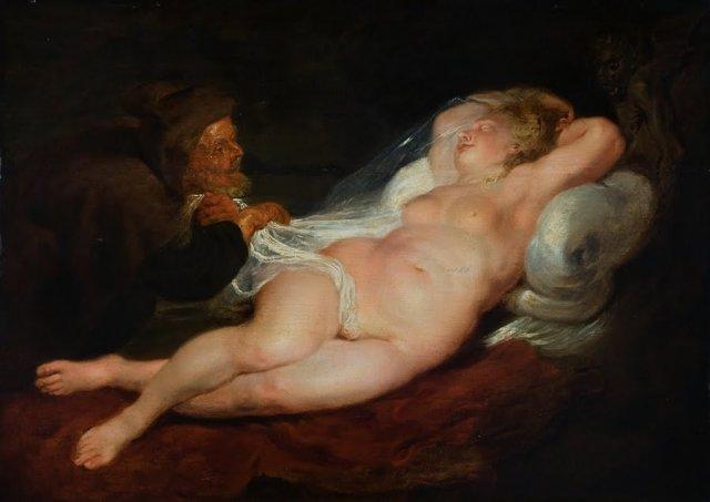 alaston nainen maalaus Pietarsaari