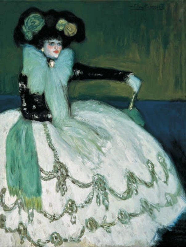Picasson Sinipukuinen nainen