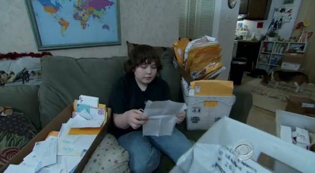 Noah on saanut tuhansia kannustuskirjeitä tuntemattomilta ympäri maailman.