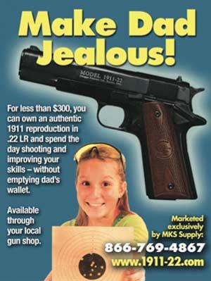 Junior Shooters -lehden ilmoitus neuvoo tekemään isukin kateelliseksi.