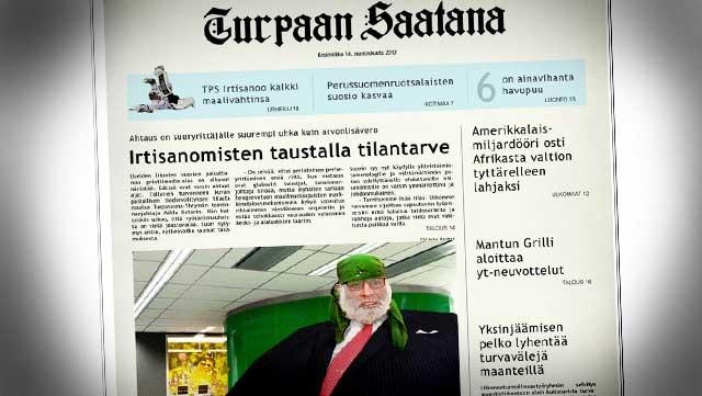 Turpaan saatana kirjoittaa muun muassa irtisanomisista. Jutussa kommentoi toiminnajohtaja Miklu Ketori, joka pelkää printtimediakuplan räjähtävän.