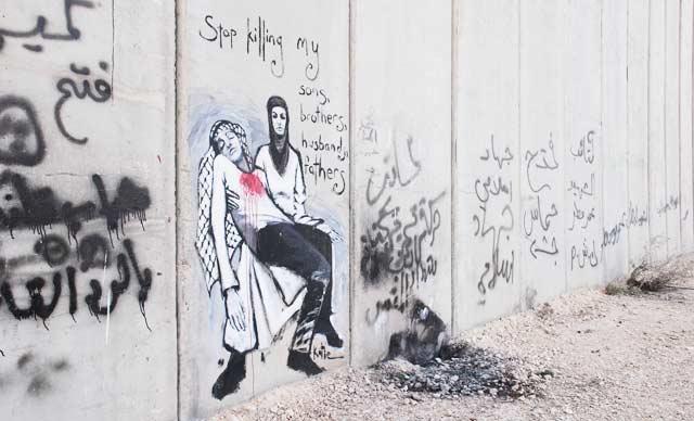 Palestiinalaiset graffitit kertovat hädästä.