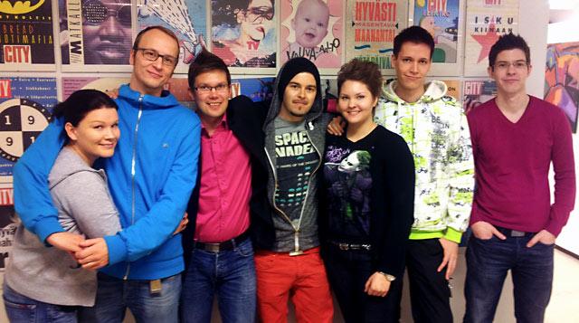 Cityn tekijät. Kolmas vasemmalta on uusi omistaja Ilkka O. Lavas.
