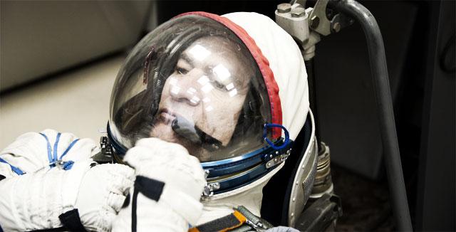 Avaruuden kovin twiittaaja Paolo Nespoli.