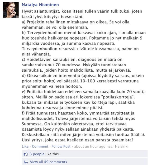 Ruutukaappaus tapahtuman Facebook-sivulta.
