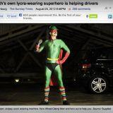 Tosielämän supersankari auttaa autoilijoita rälläkällä
