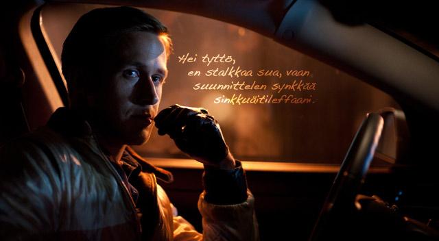 Meillä ei ole täyttä varmuutta siitä, mitä Ryan Gosling ajatteli Drive-leffan kuvauksissa.