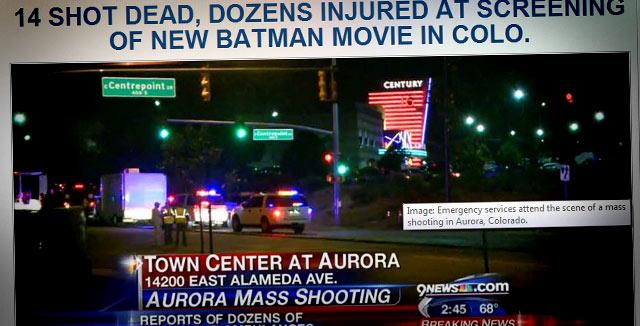 Batmanin ensi-illasta Denverissä tuli katastrofi.