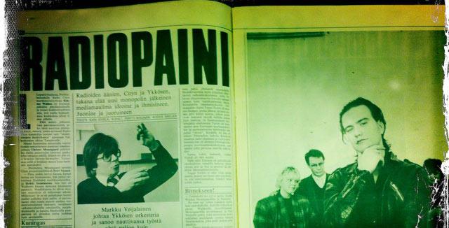 Radiopaini-artikkeli avasi monopolin jälkeistä media-Suomea vuonna 1986.