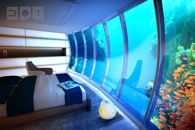 Huoneet ovat erittäin sopivia akvaarioiden ystäville.