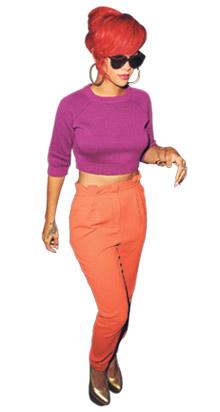 Rihanna tietää, että tämän kevään trendikkäin ruumiinosa on pallea.
