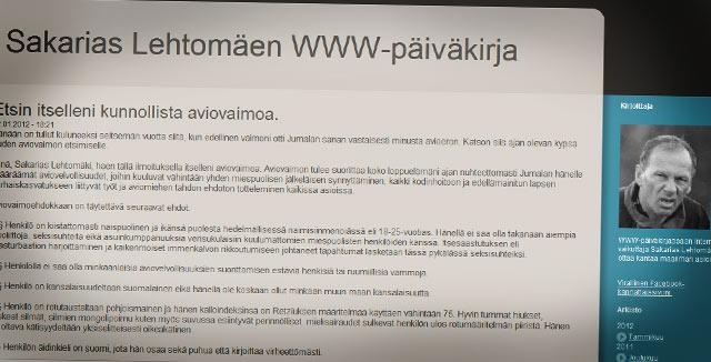 Sakarias Lehtomäki asetti riman korkealle naisensa suhteen.