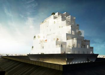ALA Arkkitehtien Cloud City nousisi Punavuoren Merikorttelin sisältä ja levenisi korttelin reunojen päälle. Rakennuslautakunta äänestää projektin jatkosta noin kuukauden päästä.