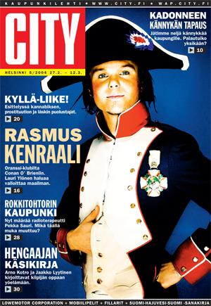 Lauri vuonna 2004 Ari-Pekka Rautiaisen kuvaamana. Silloin vaatteita oli vähän enemmän. Lööpistä tuli Cityn toiseksi eniten varastettu.