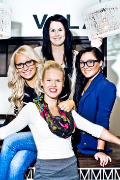 Aleksin Vilan avajaisia vietettiin 2009. Kuvassa vasemmalta Tanja Järvinen, Linda Palonen, Tiina Tapio ja Anu Holtinkoski.