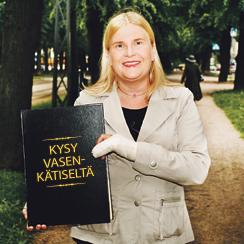 Vasenkätisten kaupan Anne Kainulainen vastaa vasenkätisiä koskeviin kysymyksiin.