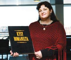 Sosiaalikasvattaja Malla Laiti vastasi romaneja koskeviin kysymyksiin.
