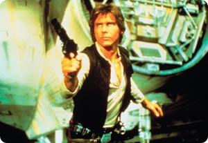 Han Solo (Harrison Ford) on Tähtien Sodan tähti. Lukijoiden mielestä Star Wars -elokuvasarja on parasta, mitä koskaan on tehty.