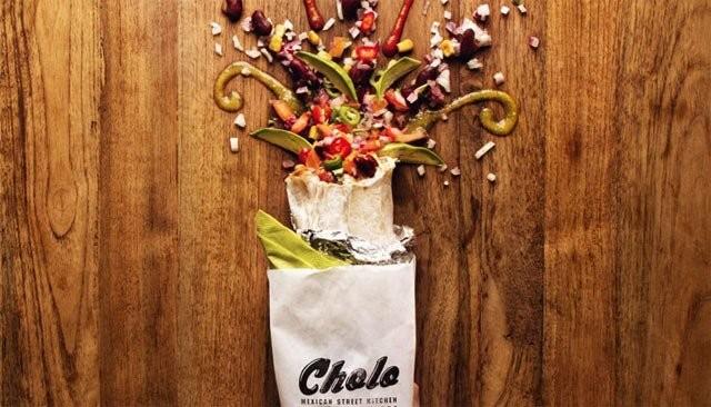 Cholon burrito levähtäneenä.