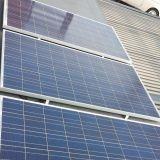 Saunalautan sähköistä huolehtii 3 aurinkopaneelia.