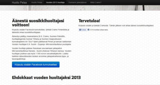 Vuoden 2013 jalkapallohuoltajakisan finaali. Laita Sinäkin äänesi kuulumaan.
