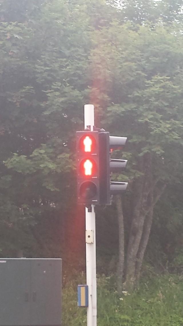 Norja. Erilainen liikennevalokulttuuri.