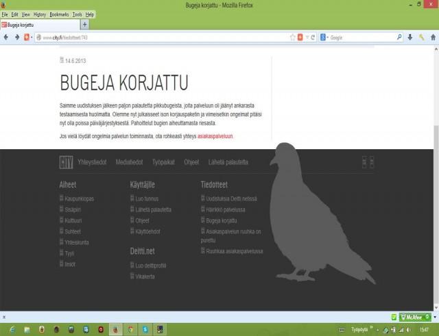 Miksi pienet kuvakkeet eivät näy selaimissani? Tämä printi screen on Firefoxista, mutta sama ongelma myös Chromessa ja Explorerissa.