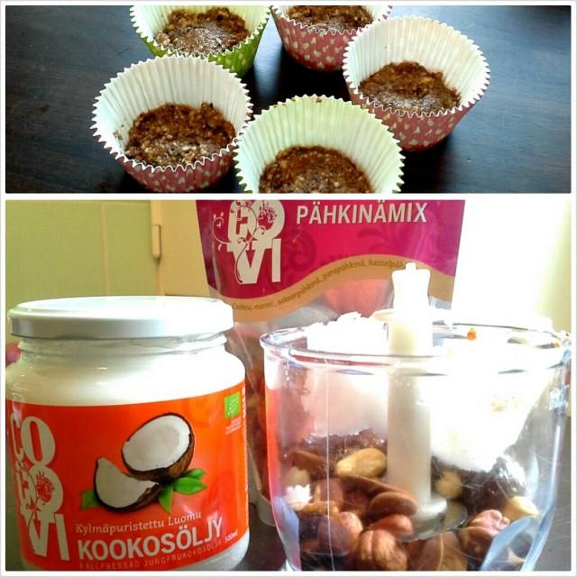 Herkkuja! Oon ihan pähkinöinä näihin pähkinöihin. Ja eh, kookosöljylle löytyi vaihteeksi muutakin käyttöä kuin ihon rasvaus :)