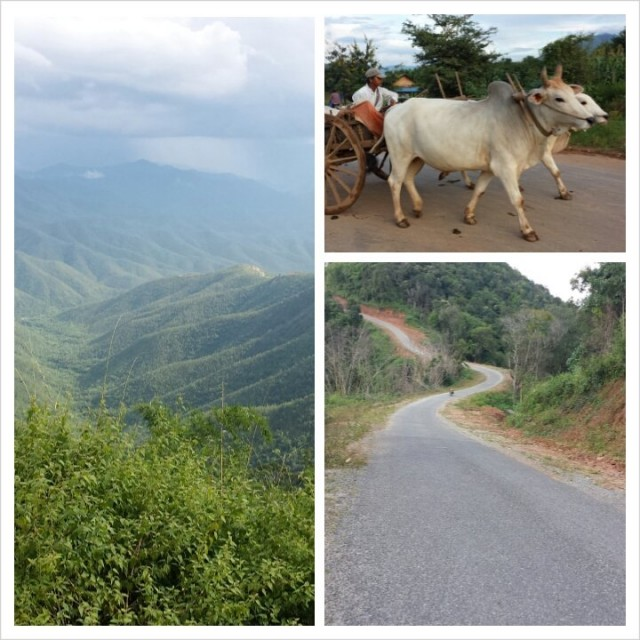 Myanmarissa on upeita teitä joita ei ole merkitty karttaan. Paikallinen oppaamme vei meidät suljetuille tiepätkille. Näkyä ja kokemusta ei voi tallentaa kameralla.