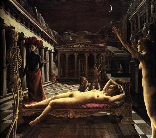 Paul Delvaux: Nukkuva Venus
