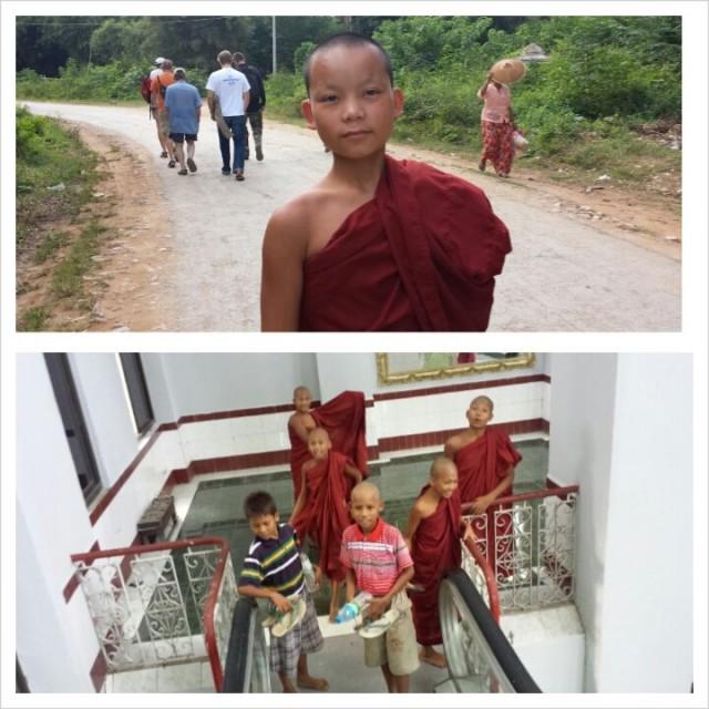 Nuoria kasvamassa oikeiksi munkeiksi.