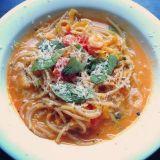 Kurpitsa-katkarapuspagetti