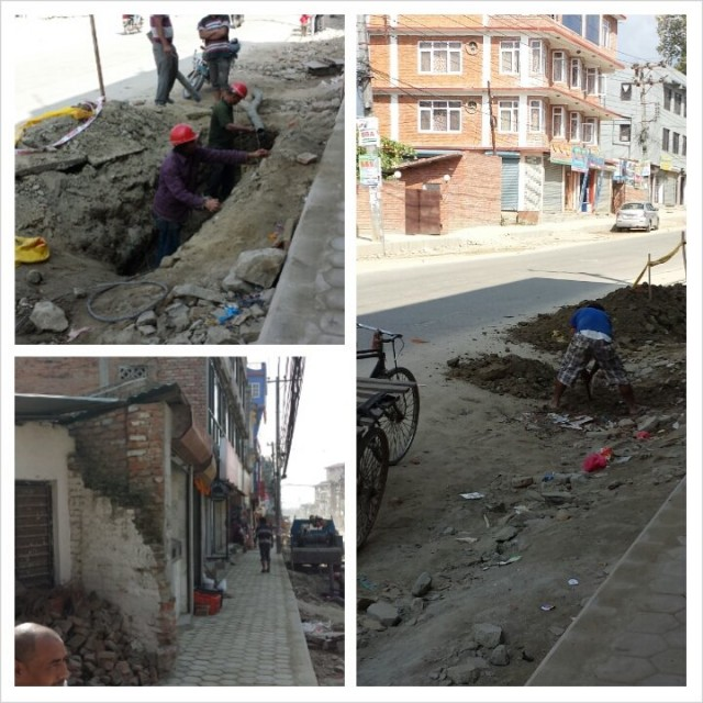 Kathmandussa taloja lyhennettiin 3metriä.