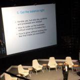 Jorma Ollila kertoi kokemuksia yrityksen kasvun eri vaiheista.