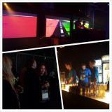 Many DJs. Happy people.  Kaapelitehdas full of partypeople.