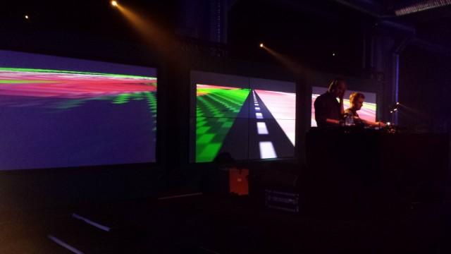 Musiikkia ja biletunnelmaa koristi hienot valoshowt ja visualisoinnit.