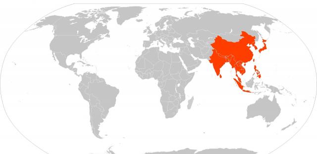 Maapallolla asuu 7000 miljoonaa ihmistä. Näistä puolet kartan punaisella alueella. Etsi omat 5 tai 50 miljoonaa ostavaa asiakastasi  tästä yleisöstä.