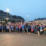 Flash mob -tempauksella muistutettiin lasten oikeuksista