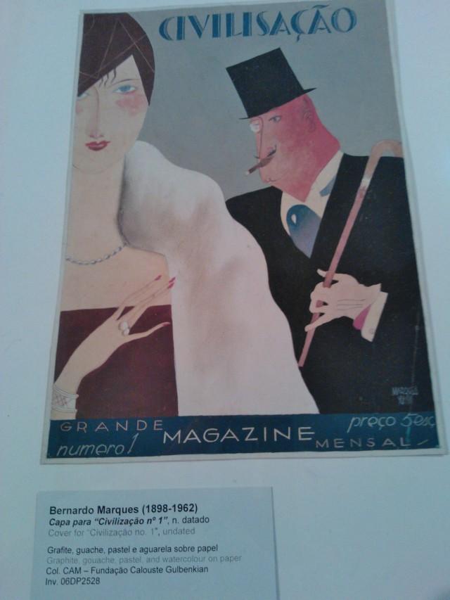 Lissabonin taidemuseossa vanha lehti esittää viehättävästi paria