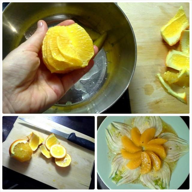 Appelsiinin fileointi tarvitaan todella terävä veitsi - varo sormia!