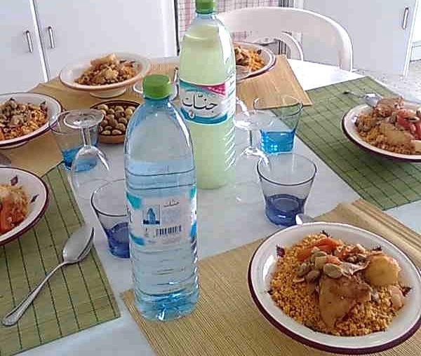 tunisialaista ruokaa, lounas ystävän luona